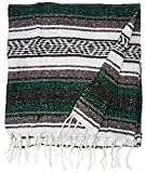 Authentic 6' x 5' Mexican Siesta Blanket (Forest Green)