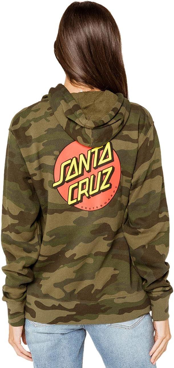 Santa Cruz Classic Dot Women's Pullover Hoodie Forest Camo (XL)