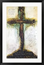 Jeremiah Chapter 29 Verse 11-13 by Michel Keck Framed Art Print Wall Picture, Black Frame, 23 x 35 inches