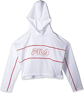 FILA Women's Romy Hooded Top Sweatshirt, (Bright), Small