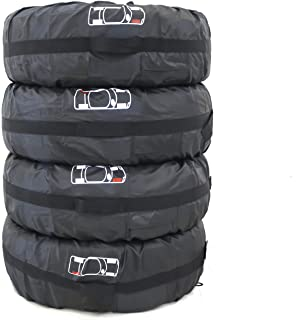Pack Of 4 Spare Tire Rim Covers Rain Resistant Tyres Tote Large Size Bag Wheel Protection Cover With Sturdy Handle(80CM /3...