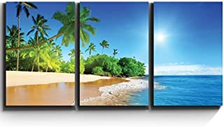 wall26 - Palm Trees on Tropical Beach - Canvas Art Wall Decor - 16
