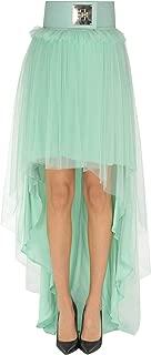 Elisabetta Franchi Luxury Fashion Womens MCGLGNN0000B7010E Light Blue Skirt | Season Outlet