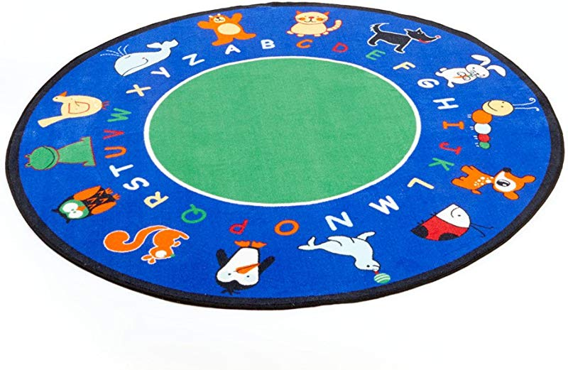 Learning Carpets CPR400 Fun With Animals Round Small 6 6