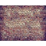 Carta da parati fotografica 396 x 280 cm Effetto Muro di mattoni 3D | Vello Decorazione Murale Soggiorno Camera Da Letto | Manifattura tedesca | Colorato 9020012c