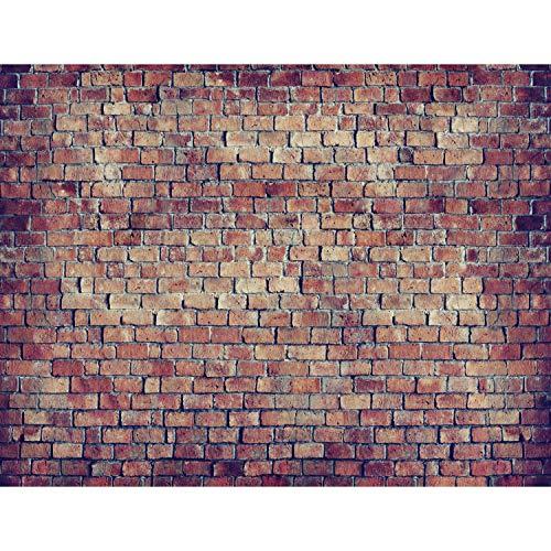 Fototapeten Ziegelmauer 3D Braun 352 x 250 cm Vlies Wand Tapete Wohnzimmer Schlafzimmer Büro Flur Dekoration Wandbilder XXL Moderne Wanddeko 100% MADE IN GERMANY - Runa Tapeten 9020011c