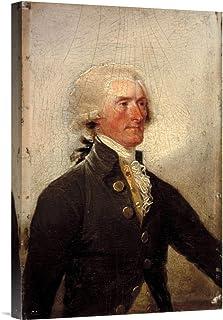 "Global Gallery Budget GCS-454945-22-142 John Trumbull Thomas Jefferson 1788"" Gallery Wrap Giclee on Canvas Wall Art Print"
