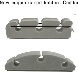 Aventik Magnetic Rod Holders Combo Pack 2 Designs in 1 Pack Super Strong Magnetic Power Safe Holding Improved 2018.8