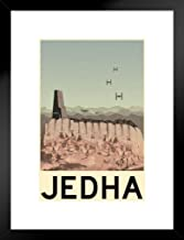Jedha Movie Fantasy Travel Poster 12x18 Movie Fantasy Travel Framed Matted in Black Wood 20x26 inch Black 240961