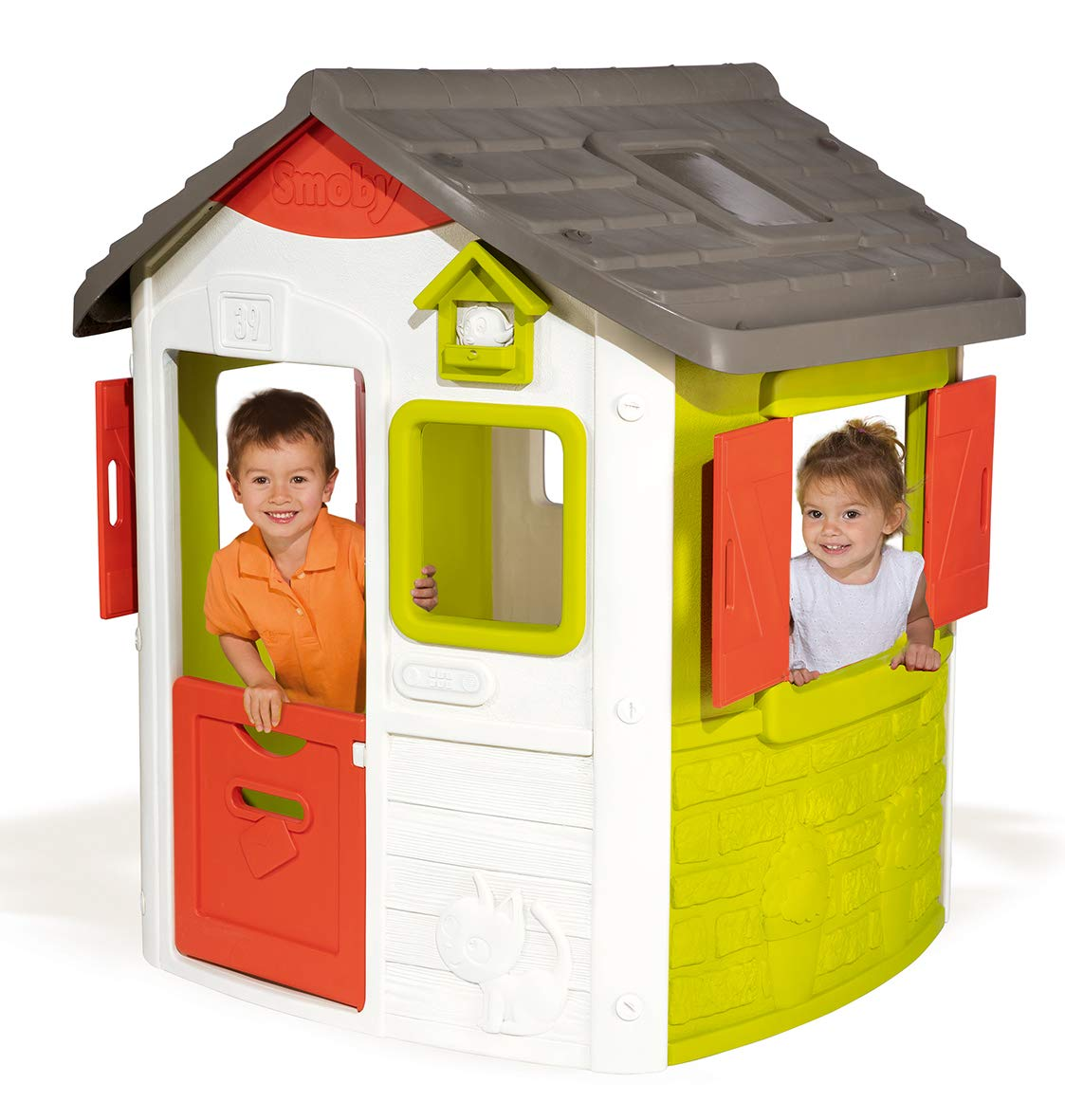 Smoby Jura Lodge II - Casita Infantil Personalizable, Color Verde ...