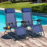 Vongrasig Patio Lounge Chairs 2 Pack, Adjustable Reclining Zero Gravity Chair,...