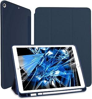 Wonzir iPad 8 ケース iPad 10.2 ケース (2019/2020モデル) Apple Pencil 収納可能 スタンド機能 iPad 10.2 インチ 第8世代/第7世代 保護カバー 軽量 薄型 シンプル 三つ折タイプ 全面...