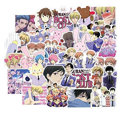 Anime Eunan High School Host Club Pegatina Japonesa Clásico Anime Impermeable Calcomanía Patineta Portátil Maleta 50pcs