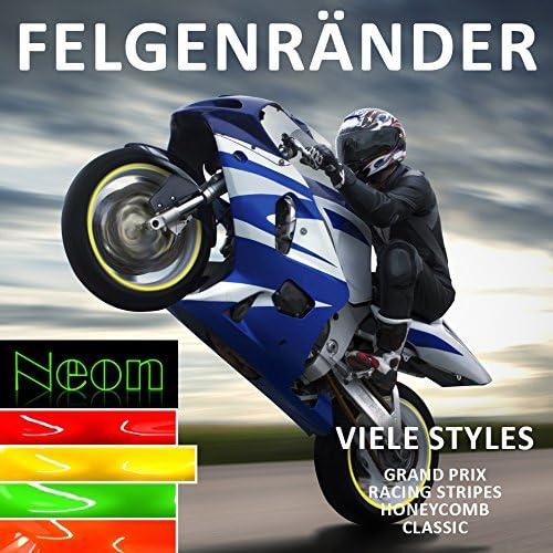 Bike Label Felgenrandaufkleber Set 700101 Classic Style Neon Gelb Auto