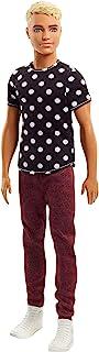 Barbie Fashionista, Muñeco Ken rubio, camiseta de lunares (Mattel FJF72)