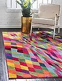 Unique Loom Estrella Collection Colorful Abstract Multi Area Rug (3' 3 x 5' 3)