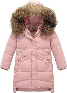 HebeTop Big Girls Boys Winter Parka Down Coat Puffer Jacket Padded Overcoat with Fur Hood (4Y-12Y)