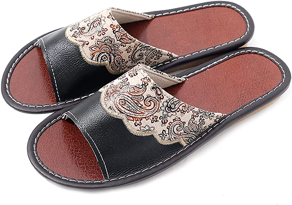 Amy Dear Women's Leather Sandals Soft Portland Mall Reservation Slides Durable Strap Flat