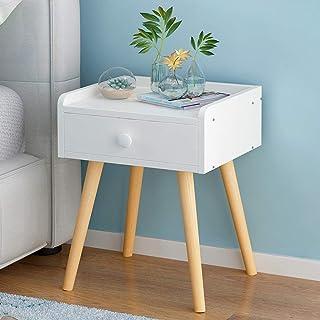 Stand de fleurs Étagère Étagère rangement Table de chevet en bois avec meuble de rangement for chambre à coucher avec tiro...