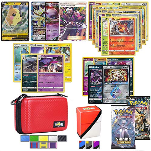 Totem World Cards GX Lot with Carrying Case! Includes 1 GX Card Guaranteed, 2 Booster Pack, 5 Rares, 5 Holos, 20 Cards, and Deck Box