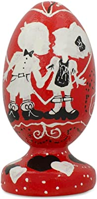 BestPysanky Our First Valentine's Day Kiss Egg Figurine