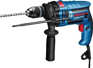 Bosch Professional 35992 Trapano con Percussione GSB 13 RE, Inclusi Asta di profondità 210 mm, Mandrino Autoserrante 13 m...