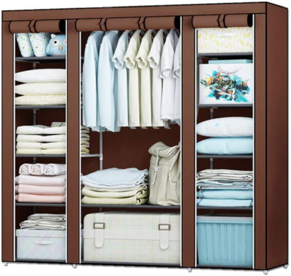 shipfree MFASD Cheap mail order specialty store Wardrobe Storage Clothes Portable Fabric No-Woven Closet