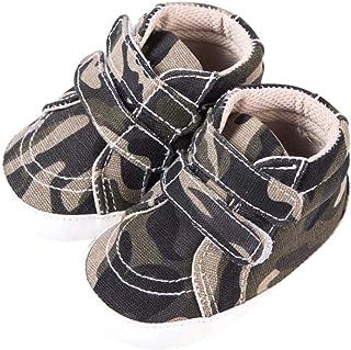 DEBAIJIA Bebé Niño Primeros Pasos Zapatos para 6-18 Meses Niños Zapatos de Lona con Suela de Silicona Antideslizante Trans...