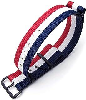 Cinturino MiLTAT 20mm, 21mm, 22mm o 24mm G10 cinturino per orologio militare cinturino in nylon balistico, PVD nerok - Fre...