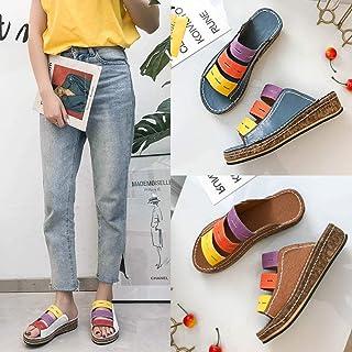 N-A slippers heren maat 9, wigsandalen en pantoffels, dames all-match pantoffels met dikke zolen green_36
