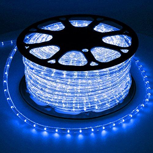 ECD Germany LED Lichtschlauch Lichterschlauch 30 Meter - Blau- 36 LEDs/m - Innen/Aussen - IP44 - Lichterkette Lichtband Licht Leucht Dekoration Schlauch Leiste Streifen Strip