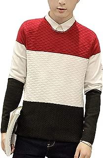 [ Smaids x Smile (スマイズ スマイル) ] ダイヤ 編み 柄 ニット セーター カラー 無地 クルーネック 長袖 メンズ