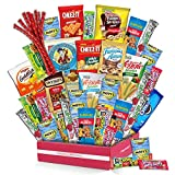 Snack Box Variety Pack (40 Count) Candy Gift Basket - College Student Care Package, Prime Food...