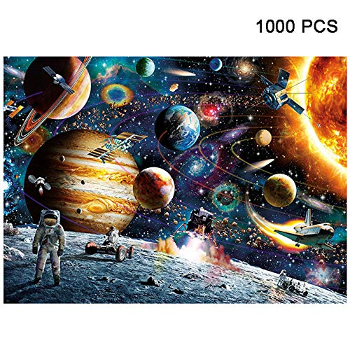 MeterMall Top 1000 Pieces Jigsaw Puzzles Educational Toys Scenery Space Stars Educational Puzzle Toy for Kids/Adults Christmas Halloween Gift Space traveler
