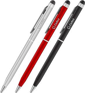 مجموعة أقلام اللمس رفيعة للغاية من شركة Cellet من 3 قطع متوافقة مع Samsung Note 10 9 8 Galaxy S10 S9 / Plus Active/S7/Edge...