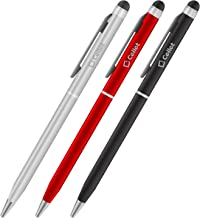 Cellet 3-Pack Ultra Thin Touch Screen Stylus and Pen Combo Compatible for Samsung Note 10 9 8 Galaxy S10 S9 S8 / Plus Active/S7/Edge/S6/S6 Edge Plus/Grand Prime/J3/J7/J7 Perx/J7 V/ & All Smartphones