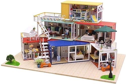 100% precio garantizado Casa de muñecas muñecas muñecas de Madera DIY Kit en Miniatura Villa Grande y Mini Casa de Madera 3D Artesanía con Muebles, Festival  entrega rápida