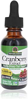 Nature's Answer Cranberry | Supports a Healthy Urinary Tract | Alcohol-Free, Gluten-Free, Kosher Certified, Vegan & No Pre...