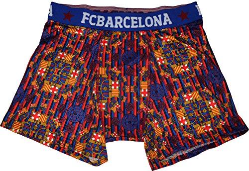 Boxer Barca–offizielle Kollektion FC BARCELONA–Erwachsenengröße, für Herren L blau