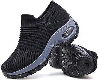 AFNGIEWg/® Hommes Femmes Baskets l/ég/ères Chaussures de Sport de Course Athl/étique Respirant Empeigne en Tricot Mode Chaussettes Chaussures Outdoors Jogging Formateurs,41