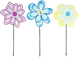 Ultimate Innovations Flower Petal Nylon Wind Spinners (Set of 3 Colors)
