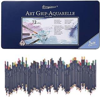 水彩色鉛筆 72色 絵筆付き 水溶性 塗り絵 美術 描き用 大人 芸術生 描画用のカラーペンシル いろえんぴつ 72色