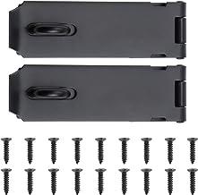 WiMas 2 Pack Roestvrij stalen deur hangslot gesp, Heavy Duty Lock Latch deurbout, veiligheid deur poort slot Latch voor de...