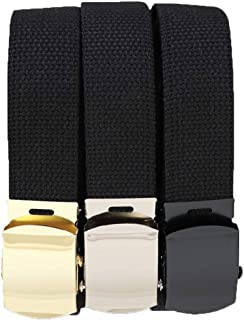 Rothco 54 Inch Black Military Web Belts in 3 Pack