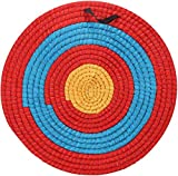 Bshop 21.6in Solid Straw Archery Target Outdoor Sports Archery Shooting Bow Straw Arrow Target Single Layer
