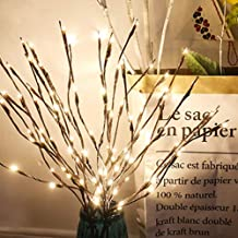 Twig LED Light,Winnes Artificial Tree Willow Branches Lamp Auto High 2 Pack 40 Waterproof LED Beads Battery Powered for Home Festival Party Indoor Outdoors Decoration(White)