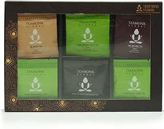Teamonk Assorted Tea Gift for Tea Lovers Men Women | Tea from Nilgiri: Second Flush Black Tea, Detox Green Tea, Jasmine Green Tea, Oolong Tea, White Tea, Tulsi Green Tea- 4 Teabags each| No Additives