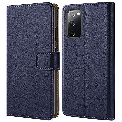 HOOMIL Handyhülle für Samsung S20 FE Hülle, Premium Leder Tasche Flip Hülle Schutzhülle für Samsung Galaxy S20 FE Hülle (Blau)