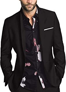 GAESHOW Mens Casual Blazer Jacket, One Button Slim Fit Suit Separate Lightweight Sport Coats