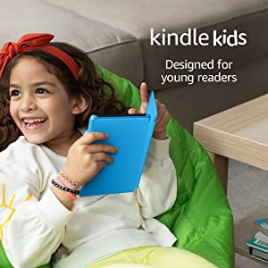 Kindle Kids | Includes access to over a thousand books, Blue Cover